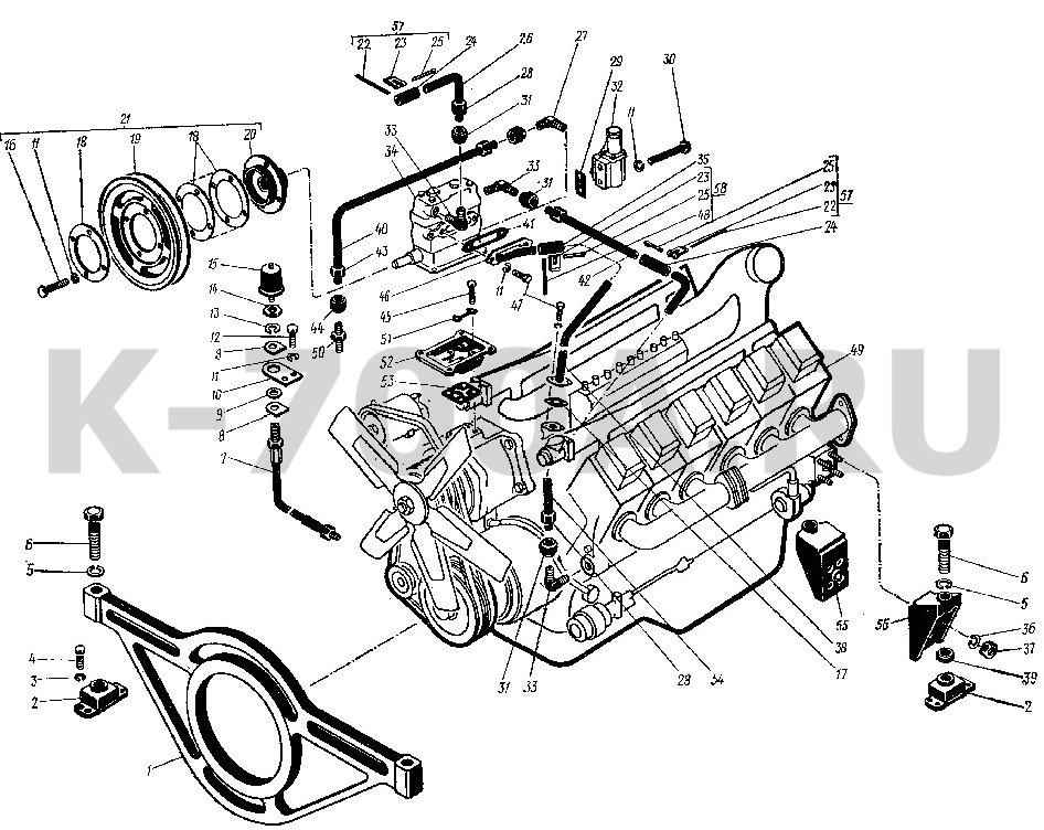двигателя трактора К-701
