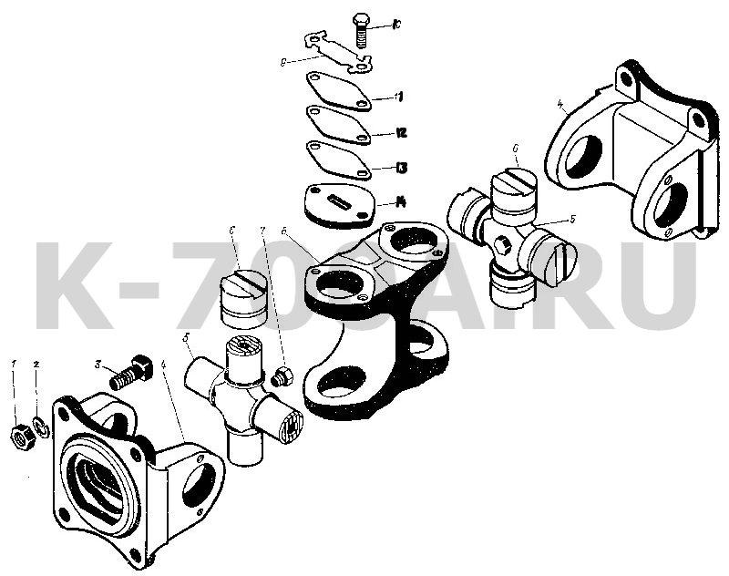 Переключение Схема переключения коробки передач трактора к 700