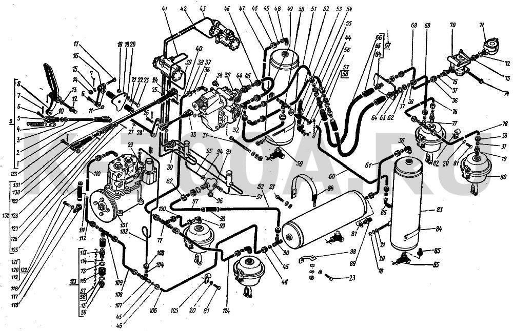 тормозная трактора К-701,