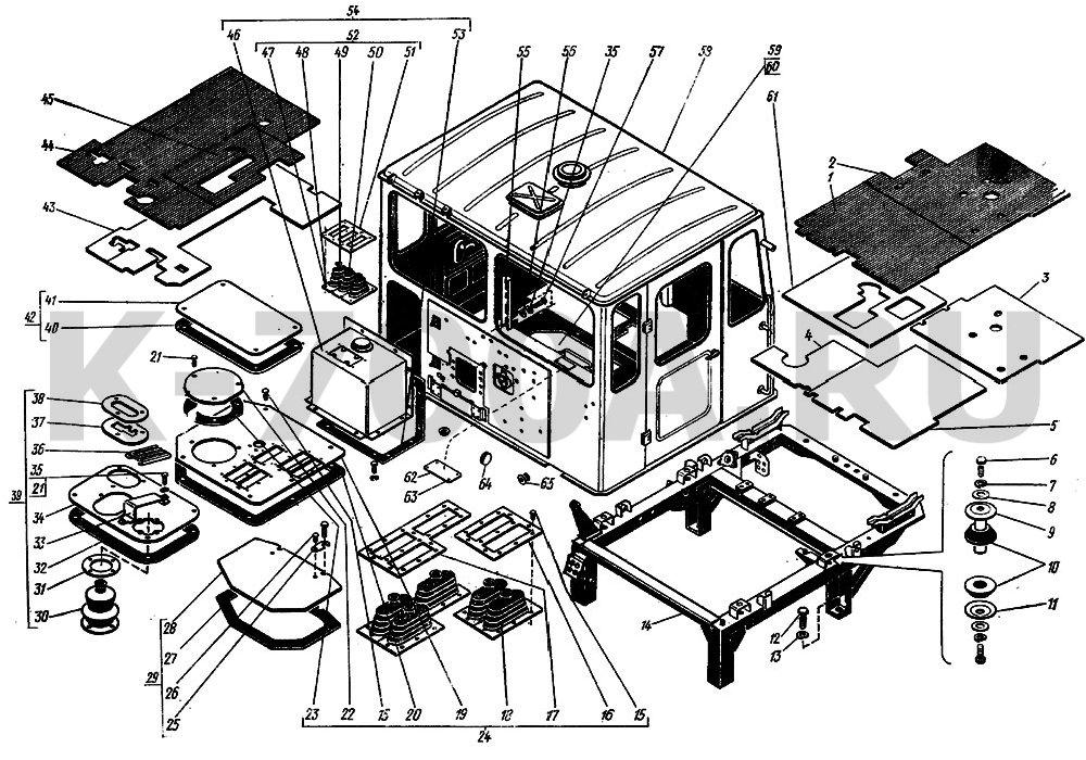 кабины трактора К-701,