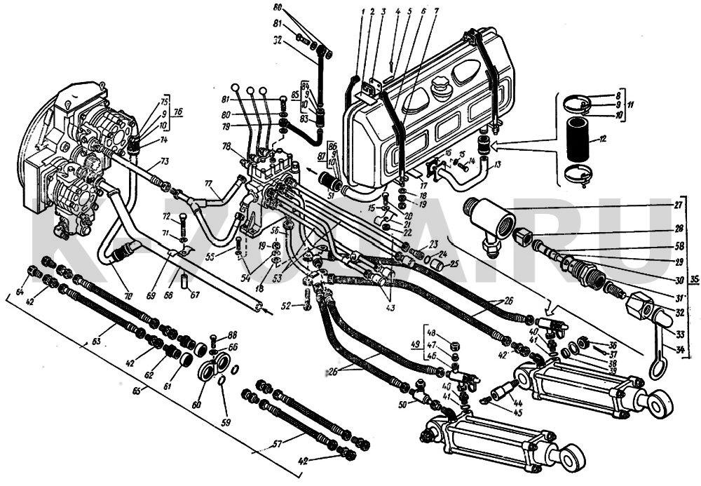трактора К-701,